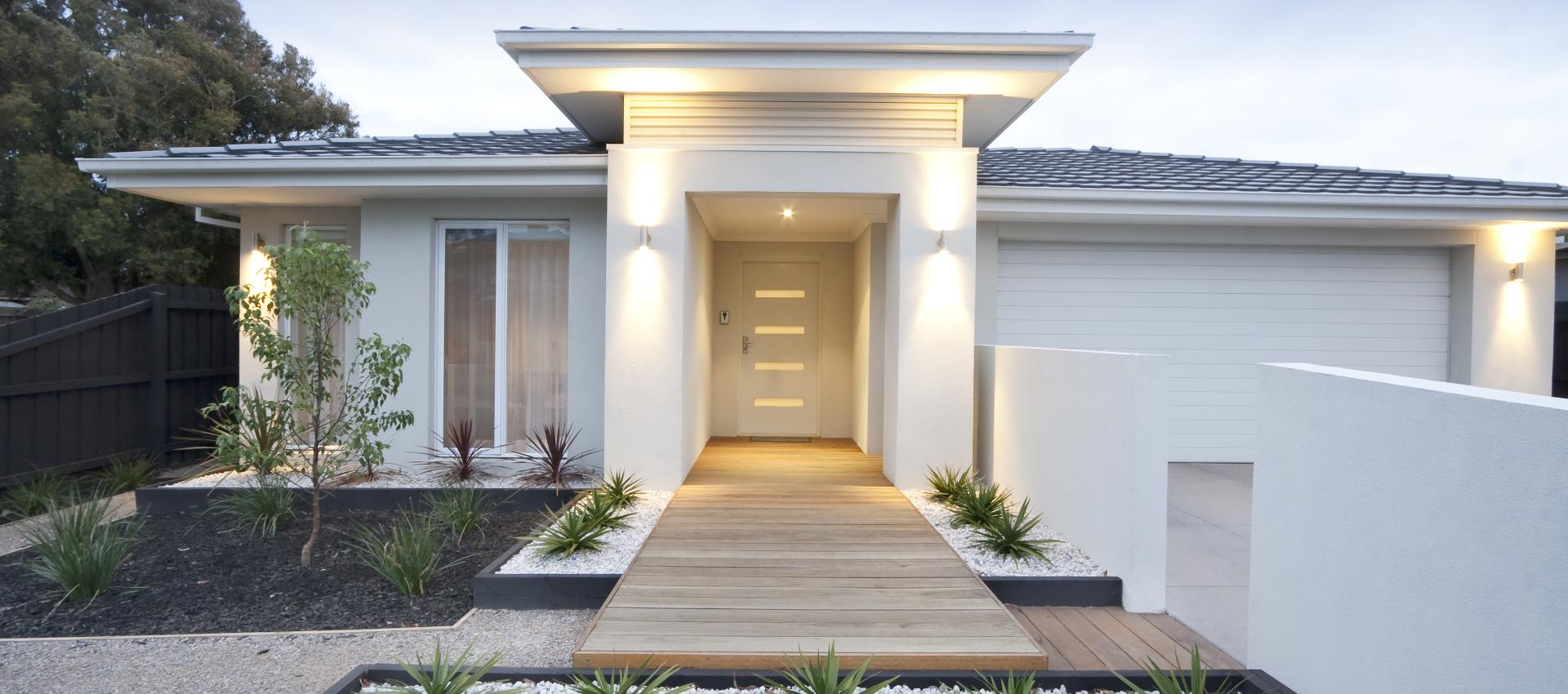 White modern bungalow